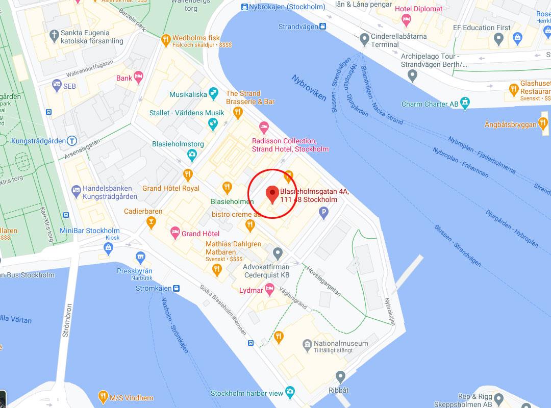 kontakt karta huvudkontor