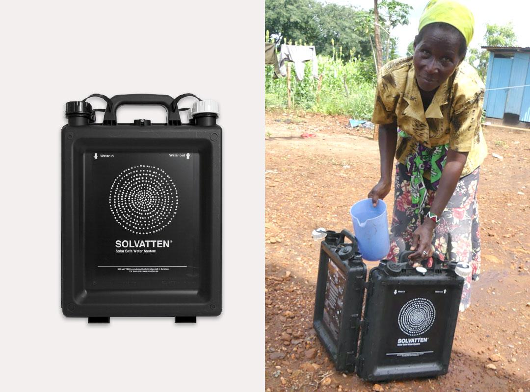 solvatten, vattenreningslösning